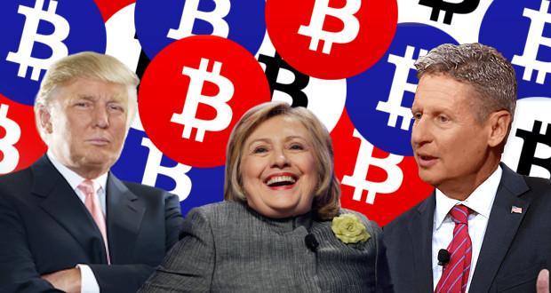 Bitcoin Trump, Hillary, & Johnson